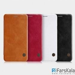 کیف محافظ چرمی نیلکین Nillkin QIN Series برای گوشی Samsung Galaxy J7 Max