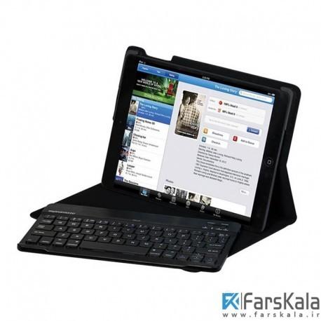 کیف کیبورد دار بلوتوثی آیپد ایر پرومیت Promate Pro Case with Bluetooth Keyboard iPad Air