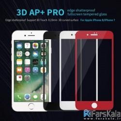 محافظ صفحه نمایش شیشه ای نیلکین  Nillkin 3D AP+ Pro edge Fullscreen tempered glass Apple iPhone 8 Plus