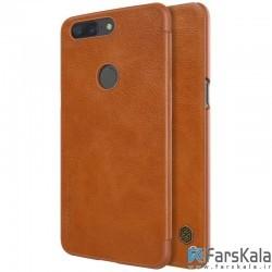 کیف چرمی نیلکین Nillkin Qin Leather Case Oneplus 5T