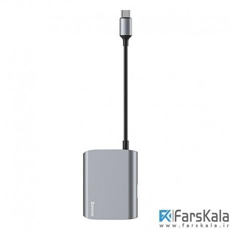 هاب آداپتور تایپ سی به وی جی ای بیسوس Baseus BS-UC23 Type-C VGA + USB 3.0 Hub Adapter