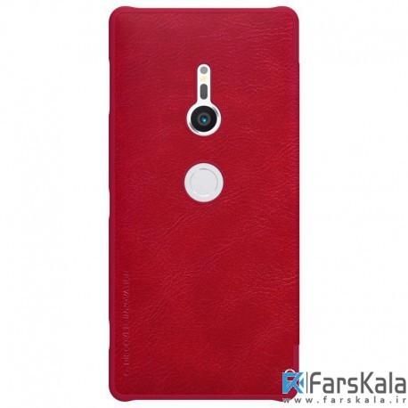 کیف چرمی نیلکین Nillkin Qin Leather Case Sony Xperia XZ2