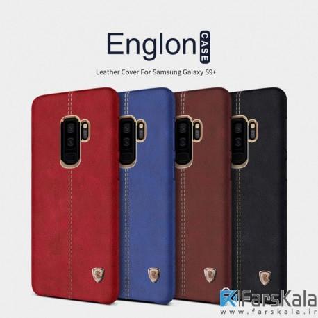 قاب محافظ چرمی نیلکین Nillkin Englon Samsung Galaxy S9 Plus